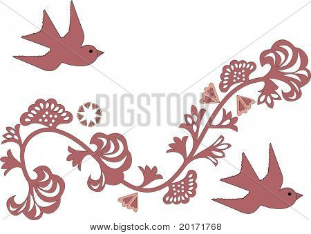 quirky trendy design with birds