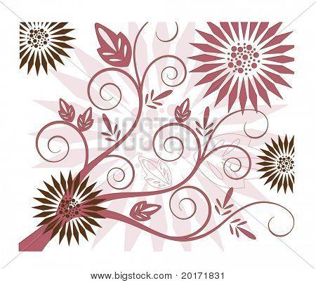 Funky Spule und Blume-Vektor