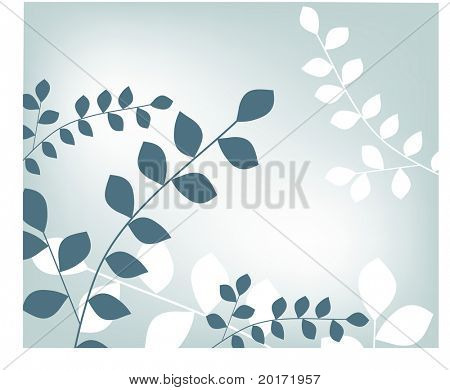leaves over sky vector