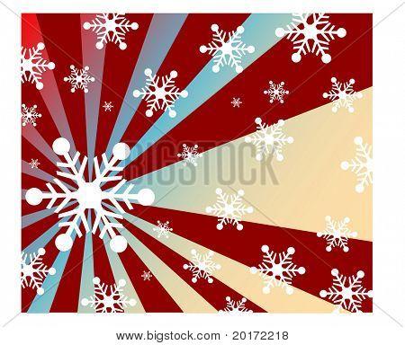 explosão de Natal com vetor de flocos de neve