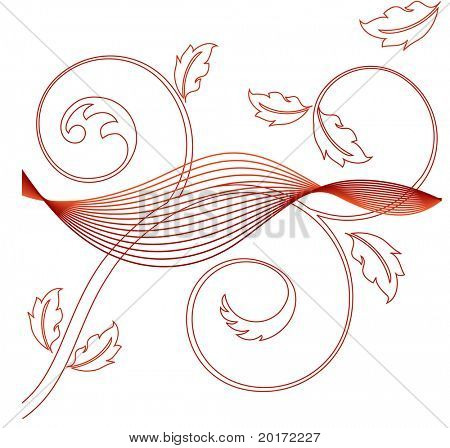 netting with coil leaves vector