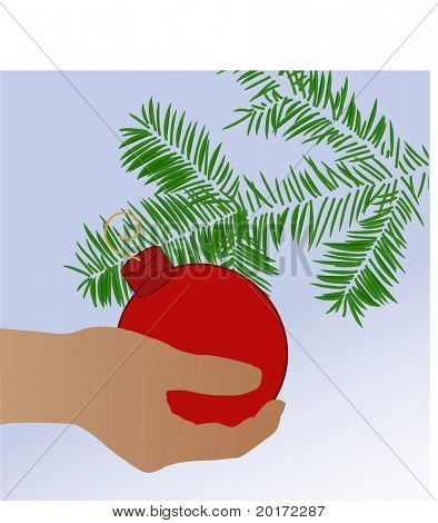 decorating the tree vector