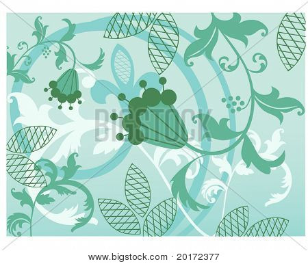 pretty vines with quirky flower vector