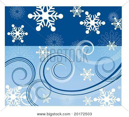 cielo agua y nieve viento vector