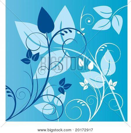 coil foliage vector