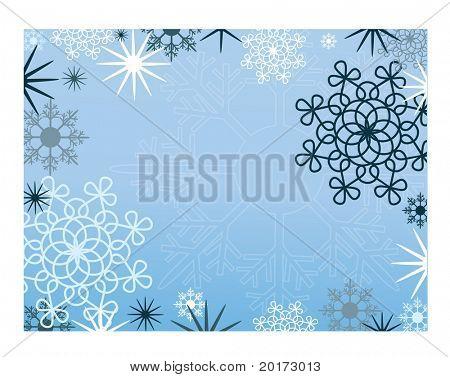série do vetor de quadros de Natal azul