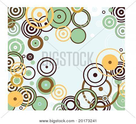 funky circle frame
