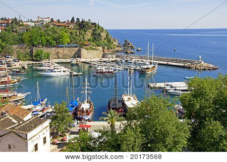 Turkey. Antalya Town.harbor