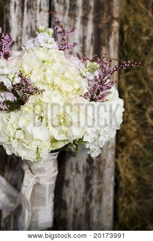 retro organic wedding bouquet - rustic
