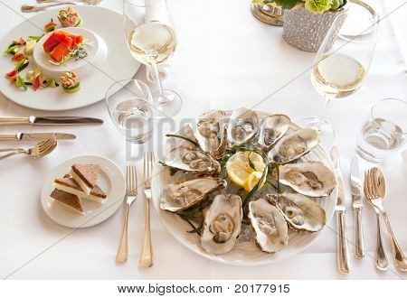 Luxury Seafood Table