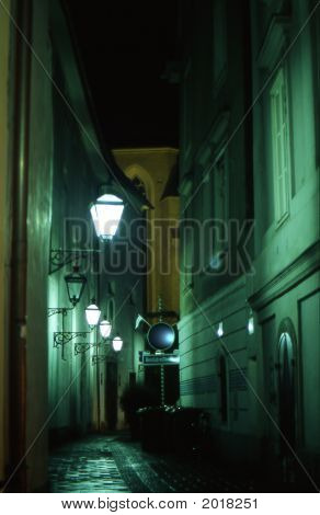 A Street In Graz By Night