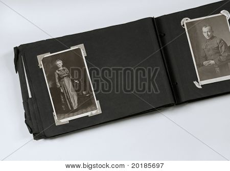 Photo Album with Mother and Military Son
