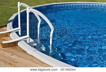 Above Ground Pool and Ladder