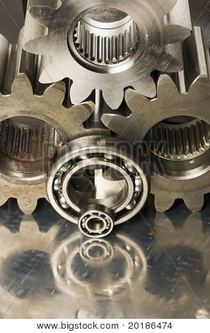 cogs and bearings in brownish