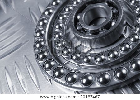 different ball-bearings against corrugated steel