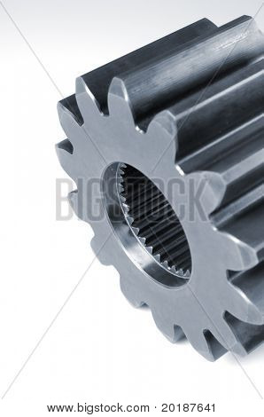 large gear, cogwheel ideal for clipping, white background
