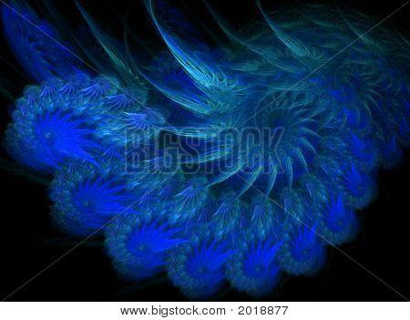 Blue Spiral Nautilus Design