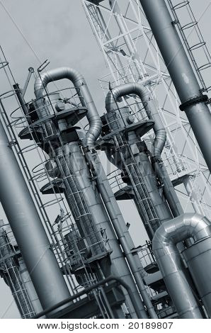 industrial plant, oil refinery detail