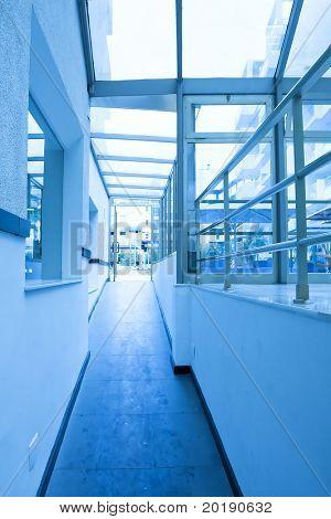 vanishing transparent hallway