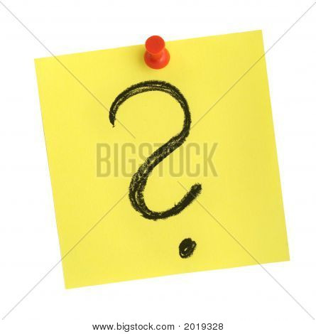 Note With Question Mark