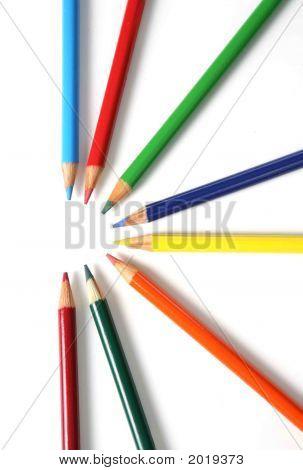 Bright Colored Pencils