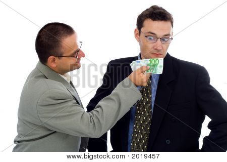 Businessman Or Politician Bribe