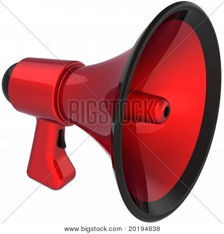 Megaphone colored red black