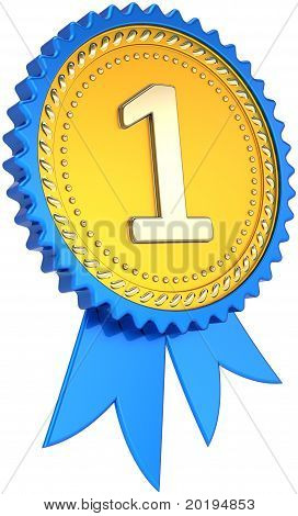 Cinta insignia oro número uno ganador del Premio