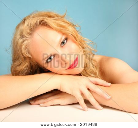 Beautiful Relaxed Woman Smiling