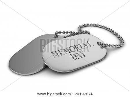 3D Illustration of Dog Tags
