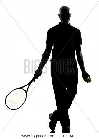 man african afro american playing tennis player on studio isolated on white background