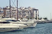 stock photo of piraeus  - Luxury boats in Piraeus Marina in athens Greece - JPG