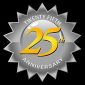 Silver 25th Anniversary Seal
