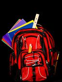 Backpack With Supplies poster