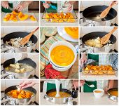 A Step By Step Collage Of Making Pumpkin Soup poster