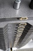 image of lifting weight  - weight machine - JPG