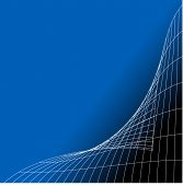 folding grid on blue and black  vector