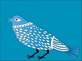 image of caw  - decorative bird vector - JPG