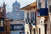 Beautiful famous Cusco city in Peru. poster