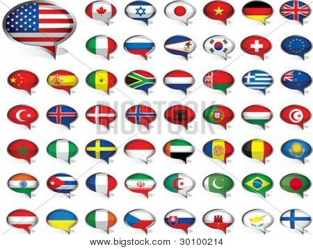 Flags. All elements and textures are individual objects. Vector illustration scale to any size. EPS 10