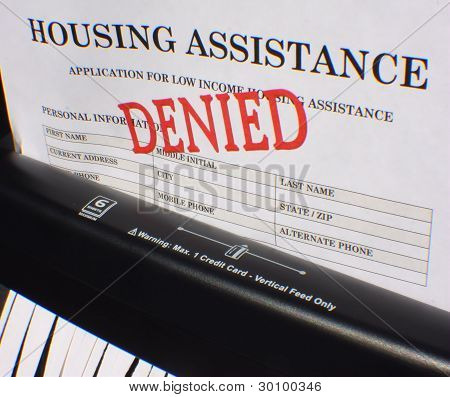 Shredding A Denied Housing Assistance Application