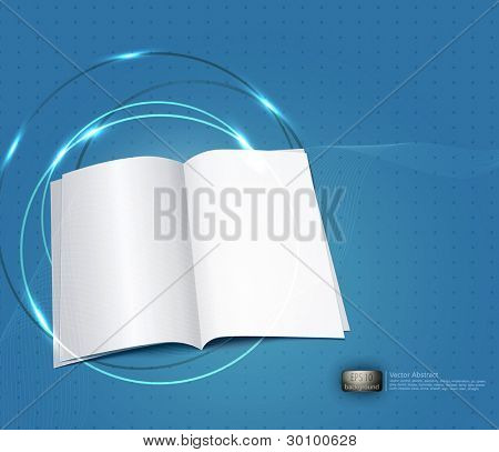 vector blue business background, with a copybook
