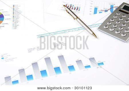 charts, documents, business stilllife