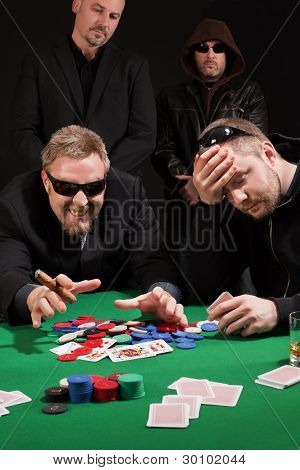 Winning And Losing Card Players