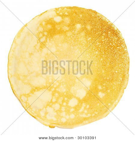 Pancake isolated on white background.