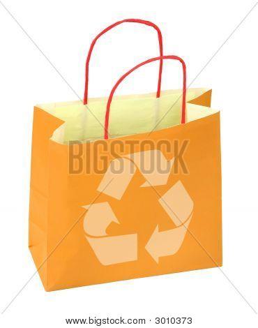 Einkaufstasche mit Recycling Symbol