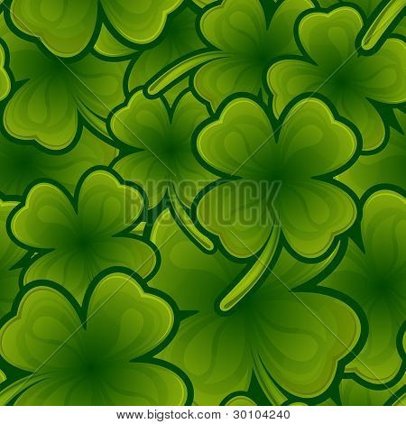 Seamless Pattern From Shamrock