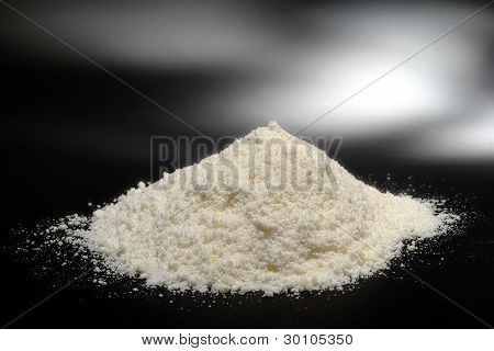 White Powder Substance As Illegal Drug Or Poison