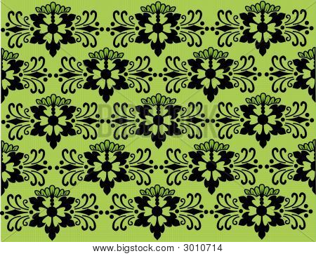 Floral Background Black And Green