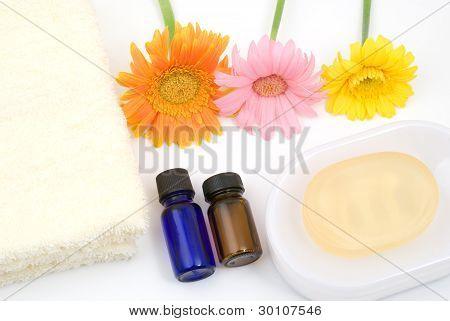 Essential oil and bath supplies